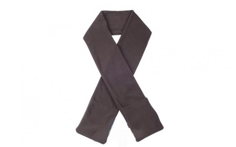 Θερμαινόμενο κασκόλ με τσέπες σε 4 χρώματα, Scarf heated Χρώμα Καφέ - Cb γυναίκα   ένδυση