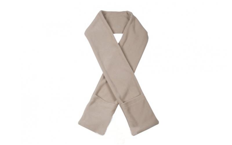 Θερμαινόμενο κασκόλ με τσέπες σε 4 χρώματα, Scarf heated Χρώμα Μπεζ - Cb αξεσούαρ   καπέλα  κασκόλ και φουλάρια