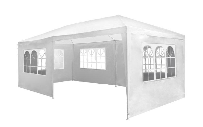Gazebo Κιόσκι Τέντα Αδιάβροχη Partytent με Μεταλλικό σκελετό 6x3x2.5 m σε Λευκό Χρώμα, Lifetime Garden 96506 - Lifetime Garden