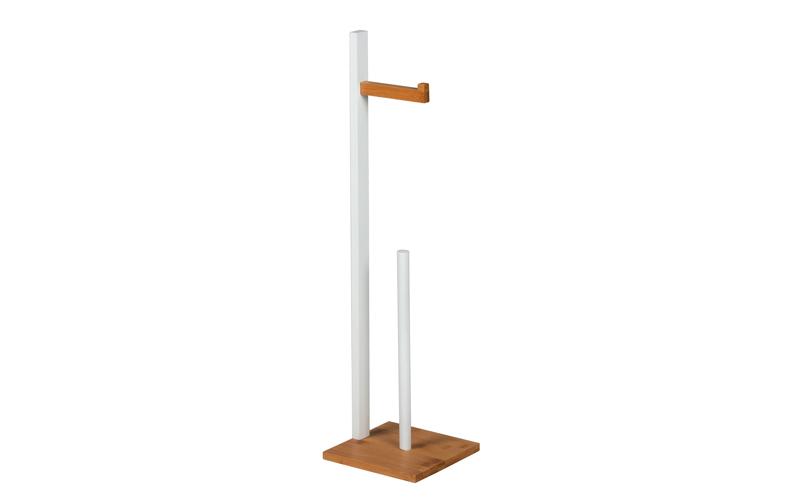 Homestyle 99069 Ξύλινη Βάση για Χαρτί Υγείας 19x19x71 cm σε Λευκό χρώμα - Homest για το μπάνιο   έπιπλα μπάνιου