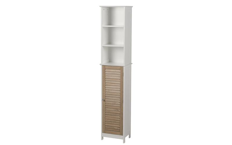 Homestyle Ξύλινο Έπιπλο για το Μπάνιο 35x26x173cm με 3 Ράφια σε Λευκό χρώμα και  σπίτι   οργάνωση σπιτιού