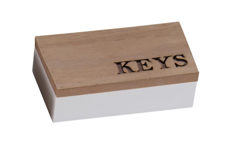 """Arti Casa 99649 Ξύλινο Κουτί αποθήκευσης """"Keys"""" σε Ροζ χρώμα 16x9x5cm για τα κλε οργάνωση σπιτιού   κουτιά αποθήκευσης"""