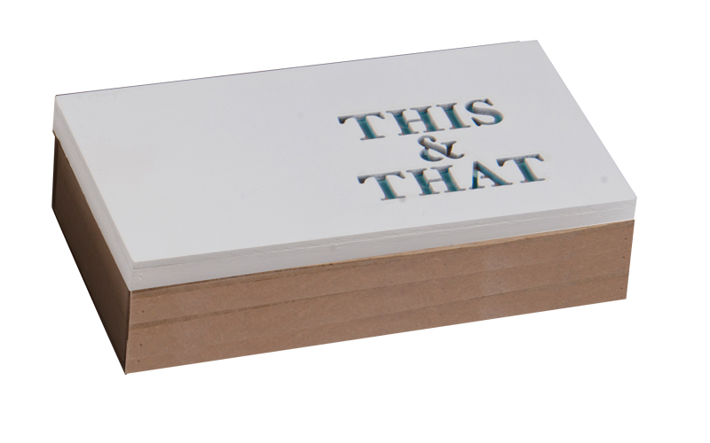 "Arti Casa 99649 Ξύλινο Κουτί αποθήκευσης ""This & That"" σε Γαλάζιο χρώμα 16x9x5cm έπιπλα   μπαούλα και κουτιά αποθήκευσης"