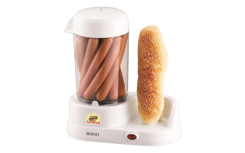 Sogo Παρασκευαστής Hot Dog 350W με θέση για Ψωμάκια και ξεχωριστό δοχείο για 6 Λουκάνικα – SOGO