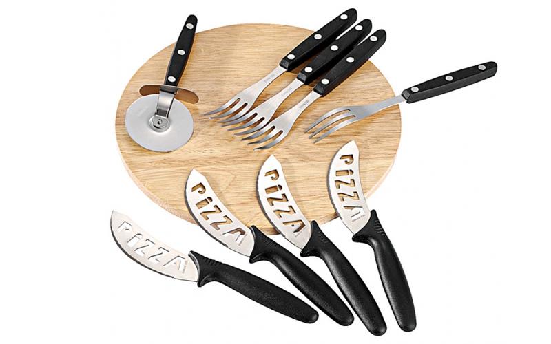 Σετ Σερβιρίσματος Ξύλινος Δίσκος κοπής 4 ατόμων με αξεσουάρ-ειδικά μαχαίρια για  για την κουζίνα   σερβίρισμα