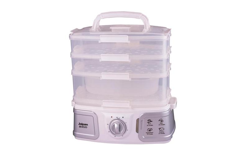 Sogo OLL-SS-10730 Ατμομάγειρας τροφίμων, φρούτων και λαχανικών 730-870W χωρητικό ηλεκτρικές οικιακές συσκευές   ατμομάγειρες