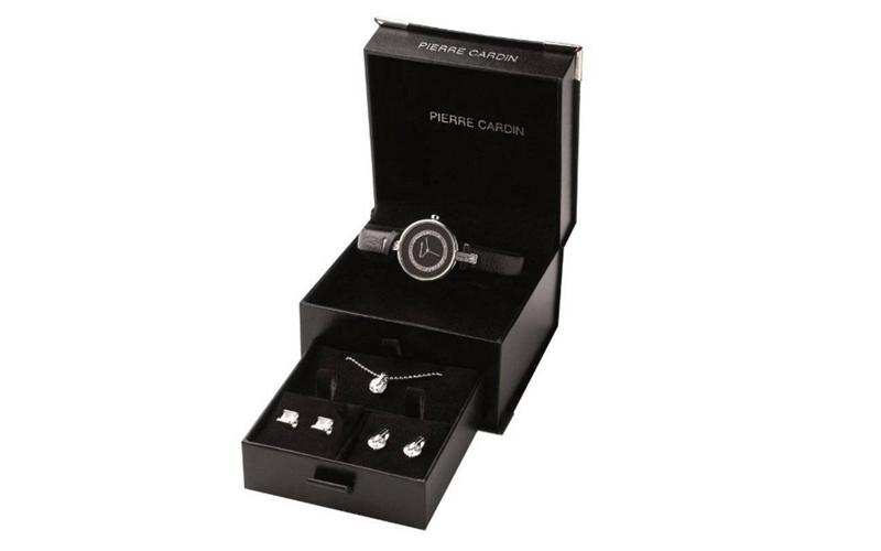 Pierre Cardin PCX0610L01 Σετ συλλογή Κοσμημάτων με Γυναικείο Ρολόι από Ορυκτό κρ γυναικεία αξεσουάρ και κοσμήματα   σετ κοσμημάτων