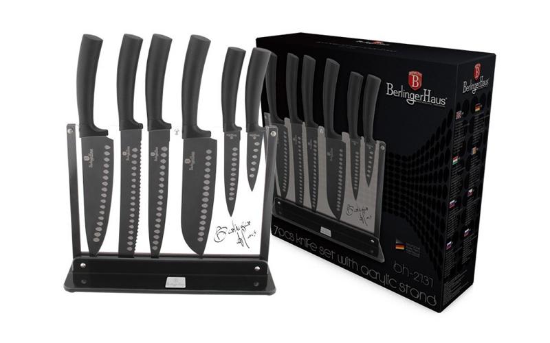 Σετ Αντικολλητικά Μαχαίρια υψηλής ποιότητας 7 τμχ. από Ανοξείδωτο ατσάλι με επίσ αξεσουάρ και εργαλεία κουζίνας   μαχαίρια κουζίνας