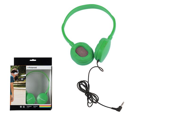 Στερεοφωνικά Ακουστικά Κεφαλής με μαξιλαράκια σιλικόνης σε Πράσινο χρώμα, Polaro τεχνολογία   ακουστικά
