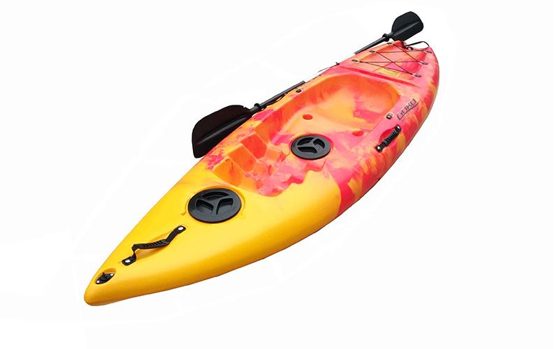 Καγιάκ Ενός Ατόμου σε Κίτρινο/Κόκκινο χρώμα, GOBO WAVE - Gobo sports   χόμπι   hobby