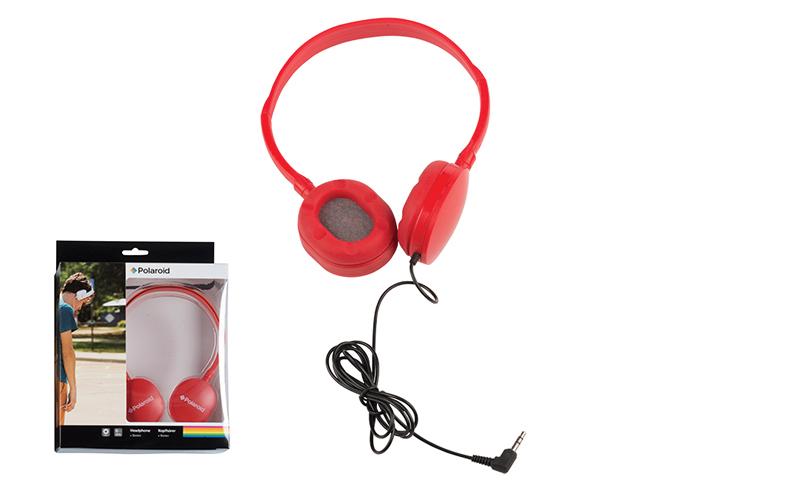 Στερεοφωνικά Ακουστικά Κεφαλής με μαξιλαράκια σιλικόνης σε Κόκκινο χρώμα, Polaro τεχνολογία   ακουστικά