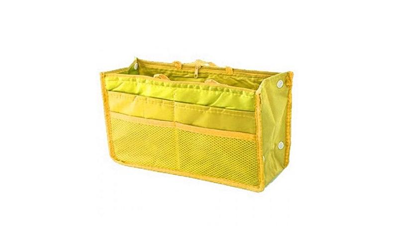 Οργανωτής Τσάντας με Πολλές Θήκες & Φερμουάρ Κίτρινο - TV υγεία  και  ομορφιά   διάφορα