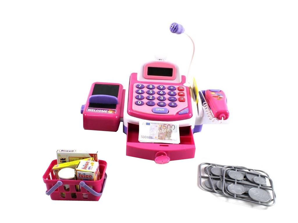 Q-Max Παιδικό Παιχνίδι Ταμειακή Μηχανή που περιλαμβάνει ψώνια, καλάθι, ιμάντα κα παιχνίδια   άλλα παιχνίδια