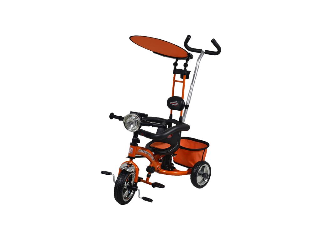 Παιδικό Τρίκυκλο Ποδήλατο με Τέντα για τον Ήλιο σε Πορτοκαλί χρώμα - OEM παιχνίδια  παιδί  και  βρέφος   ποδηλατάκια   πατίνια