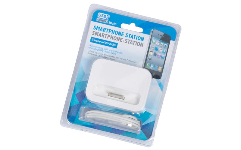 Βάση Φόρτισης Dock Station Κινητών Τηλεφώνων - iPhone 5/5S/5C Λευκό - Cb gadgets   φορτιστές