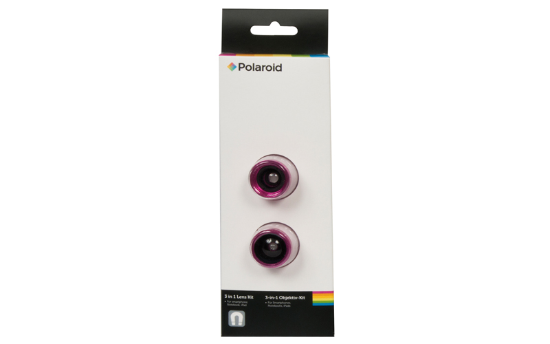 Polaroid Σετ Φακών 3 σε 1 για Smartphones, Notebooks και iPads Χρώμα Φούξια - Po τηλεφωνία και tablets   aξεσουάρ για κινητά και tablets