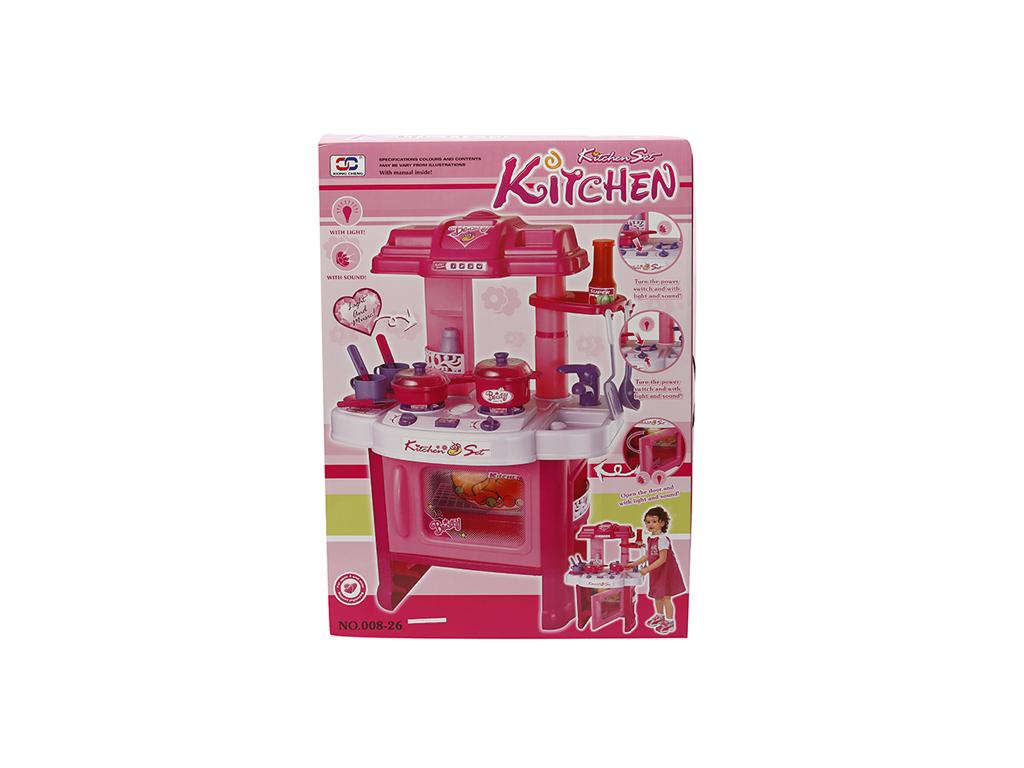 Παιχνίδι Κουζίνα Μπαταρίας με Ήχο και Φως σε Ροζ χρώμα, 29.008-26 - OEM παιχνίδια   άλλα παιχνίδια
