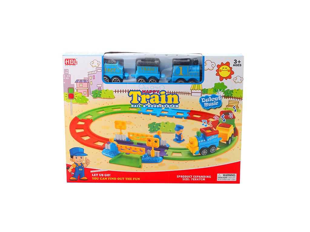 Παιχνίδι Σιδηρόδρομος με Μουσική και Τρενάκι - OEM παιχνίδια   τηλεκατευθυνόμενα  πίστες και αυτοκινητάκια