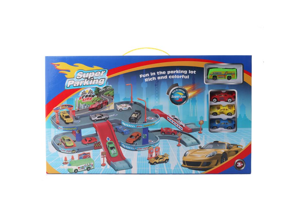 Παιχνίδι Γκαράζ (Parking) με 4 οχήματα - OEM παιχνίδια   τηλεκατευθυνόμενα  πίστες και αυτοκινητάκια