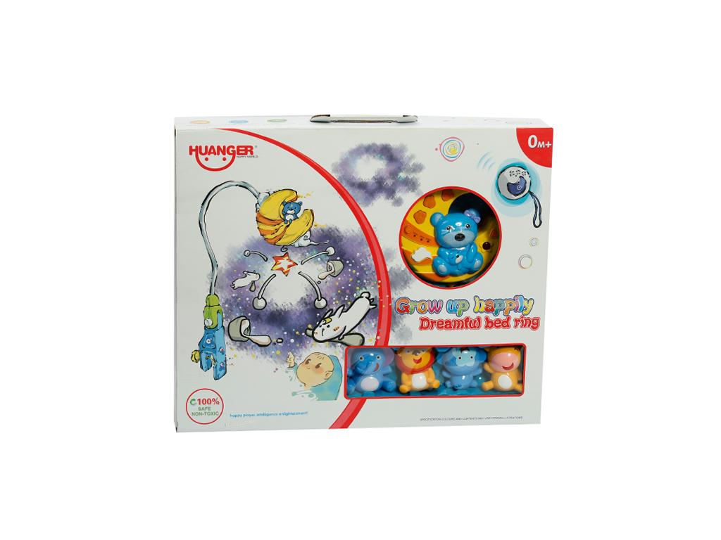 Βρεφικό Κρεμαστό Περιστροφικό Παιχνίδι Κούνιας με Ζωάκια, Μουσική και Φως - OEM για μωρά   βρεφική φροντίδα