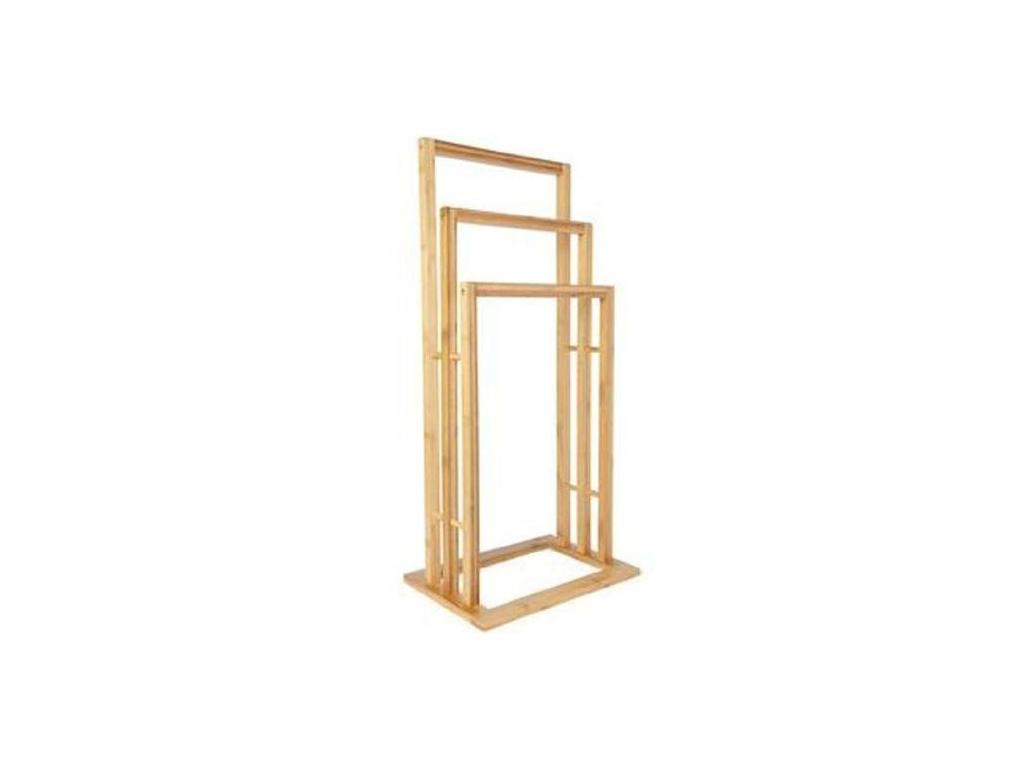 Bamboo Ξύλινη Κρεμάστρα Δαπέδου 42x24x81.5 cm με 3 θέσεις σε Διάφορα Επίπεδα για για το μπάνιο   κρεμάστρες