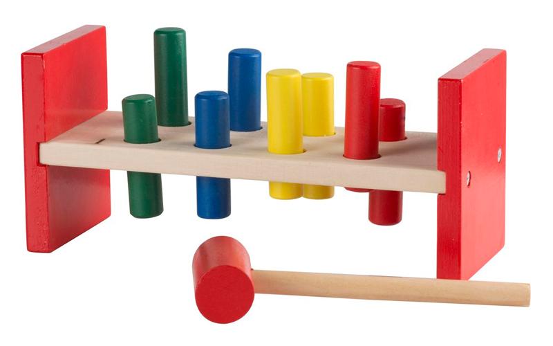 Wooden Toys Παιδικό Παιχνίδι Ξύλινο Σετ 10 τεμ. αποτελούμενο από Πάγκο, Τουβλάκι παιχνίδια   εκπαιδευτικά παιχνίδια