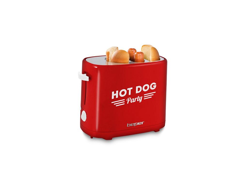 Beper 90.488 Παρασκευαστής Hot Dog 750W Retro με ξεχωριστές θέσεις για Ψωμάκια κ για την κουζίνα   μικροσυσκευές