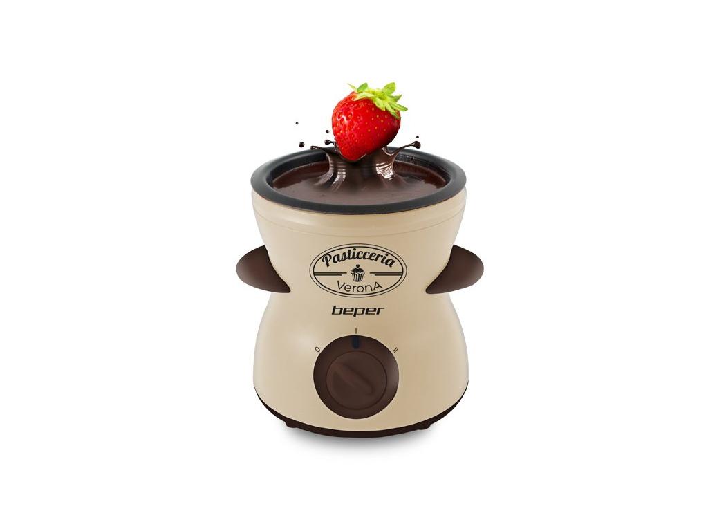 Beper 90.532 Συσκευή για Φοντί Σοκολάτας 25W με 21 Αξεσουάρ σε Μπεζ/Καφέ χρώμα - για την κουζίνα   μικροσυσκευές
