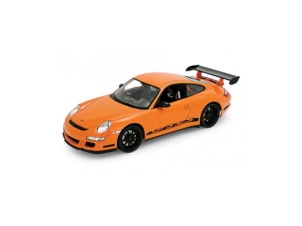 Welly Μεταλλικό Αυτοκίνητο Μινιατούρα PORSCHE 911 (997) GT3 RS σε κλίμακα 1:38 O παιχνίδια  παιδί  και  βρέφος   οικολογικά παιχνίδια