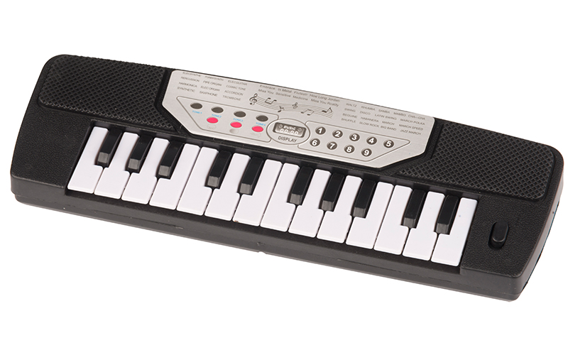 Eddy Toys Μουσικό Ηλεκτρονικό Παιχνίδι Πιάνο 28x8x3cm με 14 πλήκτρα σε Μαύρο χρώ παιχνίδια   μουσικά όργανα