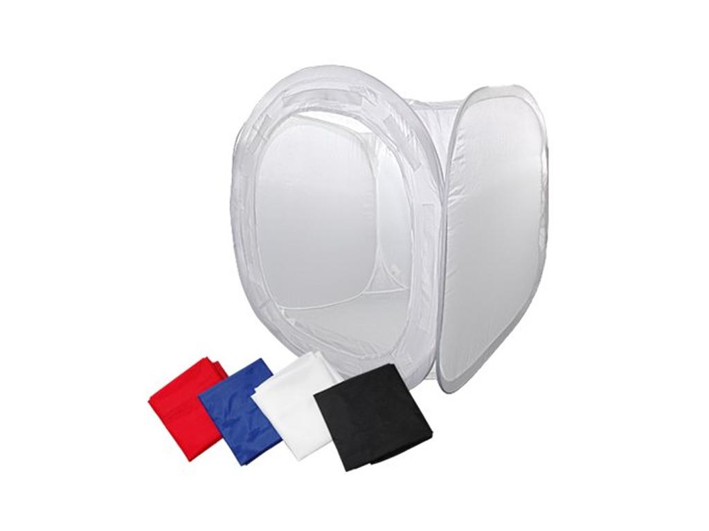 Μίνι φωτογραφικό αναδιπλούμενο studio Photo Box 60x60x60 Για Ήπια Αντανάκλαση σε Λευκό χρώμα - Cb