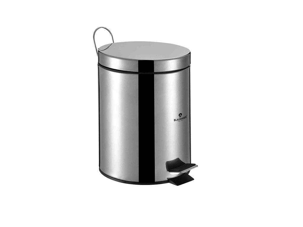 Blaumann Κάδος Απορριμάτων 20 λίτρων με Πεντάλ από Ανοξείδωτοι ατσάλι, Ιδανικός  κουζίνα   κάδοι απορριμμάτων κουζίνας