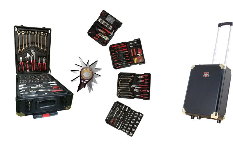 Herzberg Εργαλειοθήκη Βαλίτσα Τρόλεϊ με Καστάνια στα κλειδιά, Ροδάκια & Τηλεσκοπ εργαλεία για μαστορέματα   εργαλειοθήκες