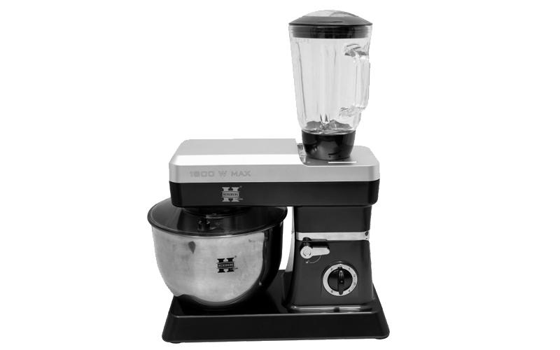 Herzberg Κουζινομηχανή - Μίξερ 1200W με Κάδο 6.5 Λίτρα, Έξτρα Μπλέντερ 600W χωρη μικροσυσκευές   μίξερ   μπλέντερ