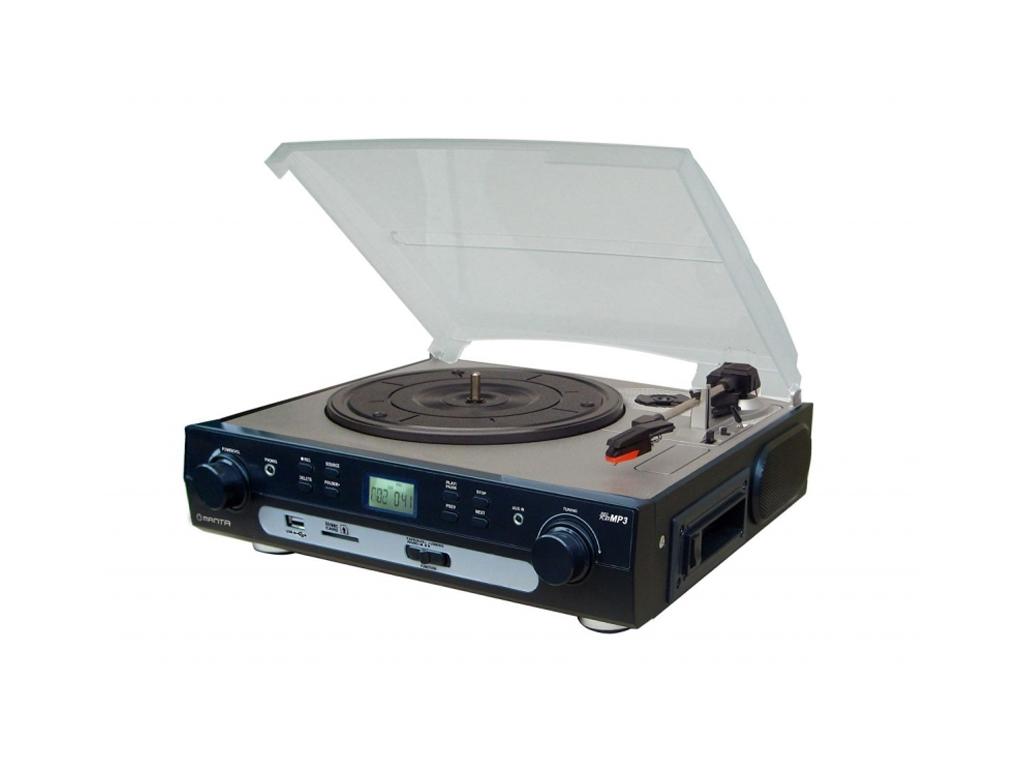 Manta Πικάπ Vintage με Υποδοχές για USB, MP3, SD και Κασέτες 230V 32x28x12cm - M τεχνολογία   cd   mp3 4   dvd   media players