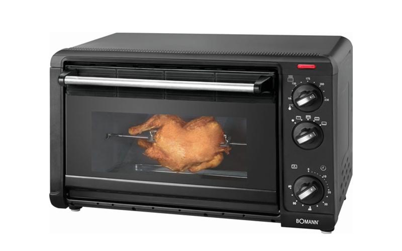 Bomann Φουρνάκι-Ψησταριά 1500 Watt χωρητικότητας 28Lt με 5 Λειτουργίες Ψησίματος για την κουζίνα   φουρνάκια