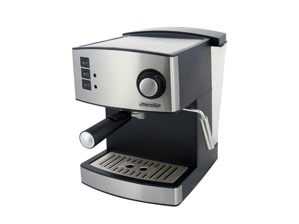Mesko Καφετιέρα Espresso 850W 15bar Πίεσης με Αποσπώμενο Δοχείο 1.6Lt σε Μαύρο χ ηλεκτρικές οικιακές συσκευές   καφετιέρες και είδη καφέ