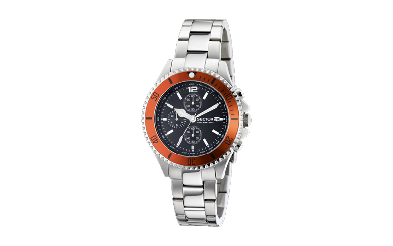 Sector Ανδρικό Ρολόι Vintage 230 Marine Black Dial Stainless Steel Bracelet Chro άνδρας   ρολόγια