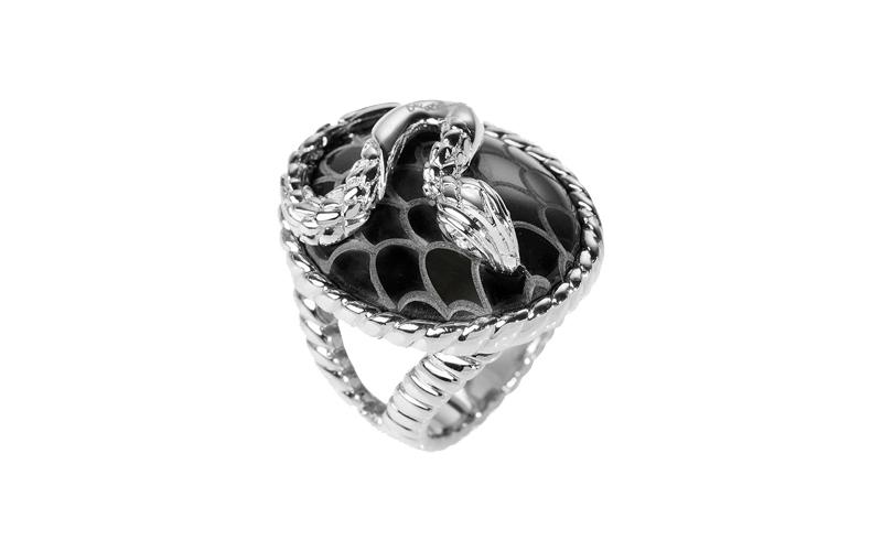Γυναικείο Κόσμημα Δαχτυλίδι από ανοξείδωτο ατσάλι σε Ασημί Χρώμα με Μαύρη πέτρα  γυναικεία αξεσουάρ και κοσμήματα   γυναικεία δαχτυλίδια