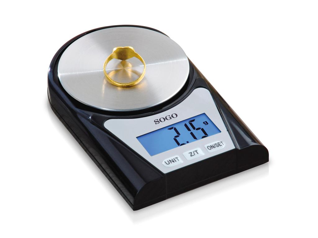 SOGO Μίνι Ψηφιακή Ζυγαριά Χρυσοχοΐας Ακριβείας 0,02g - 200gr, BAP-SS-3995 - SOGO