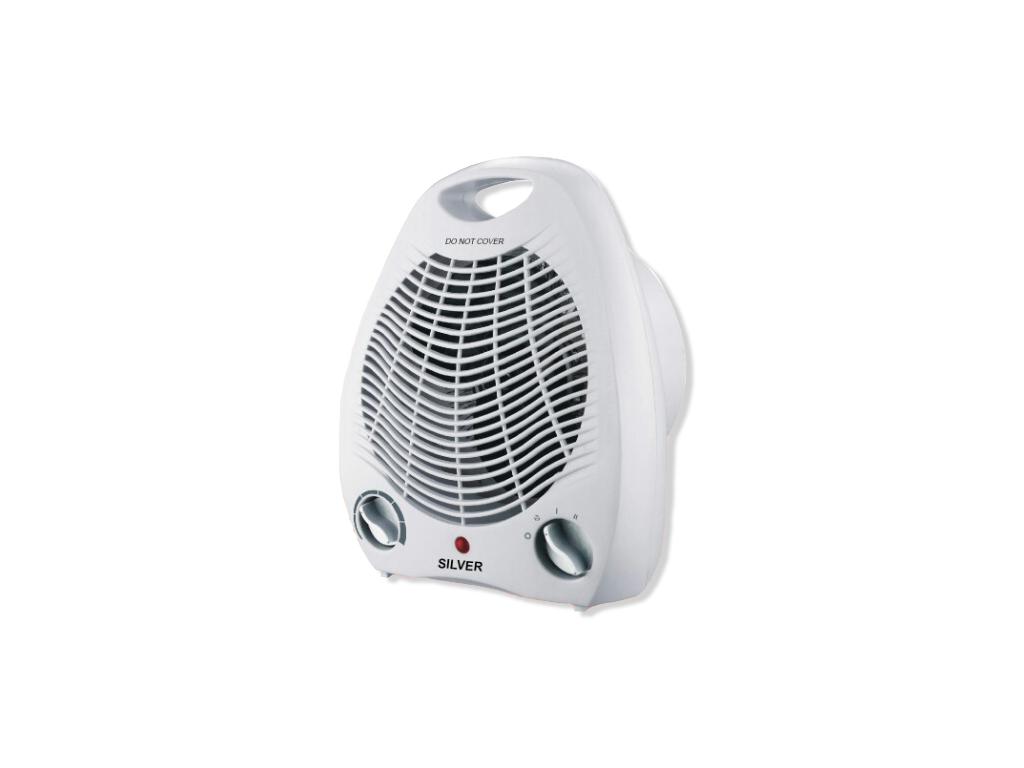 Silver Αερόθερμο δαπέδου 2000W με Λειτουργία Ψυχρού αέρα σε Λευκό χρώμα, FH03 - Silver