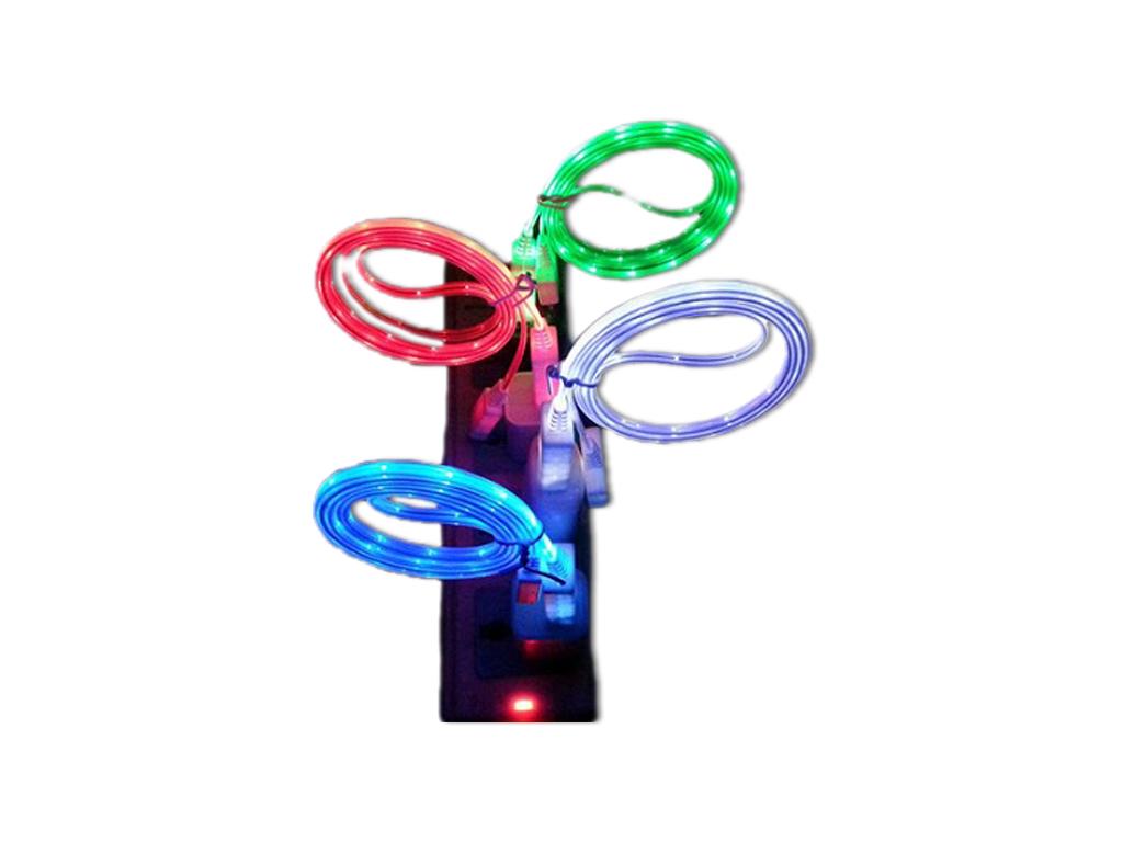 LED Cable Φωτιζόμενο USB Καλώδιο Φόρτισης & Data για iPhone 5 Blue/Green - Led C τηλεπικοινωνίες   αξεσουάρ κινητών