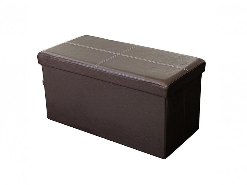 Homa 107070 Σκαμπό Πτυσσόμενο με Αποθηκευτικό Χώρο σε Καφέ χρώμα 80x40x40cm - Ho έπιπλα   πουφ και σκαμπό