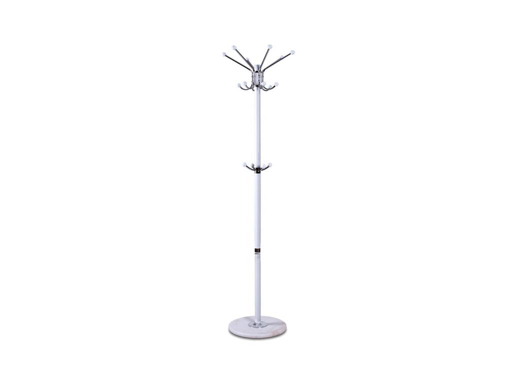 Homestyle 38597 Μεταλλικός Καλόγερος 173cm ύψους με Μαρμάρινη Βάση και 16 Γάντζο οργάνωση σπιτιού   κρεμάστρες