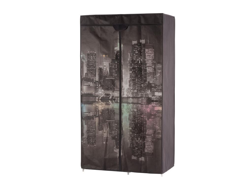 """Διπλή Φορητή Υφασμάτινη Ντουλάπα 88x45x160 cm με Μεταλλικό Σκελετό και Θέμα """"New οργάνωση σπιτιού   ντουλάπες"""