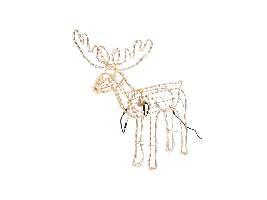 Christmas Gifts 93455 3D Σχήμα Τάρανδος από Φωτοσωλήνα σε Λευκό χρώμα 117x109cm  εποχιακά   χριστουγεννιάτικα είδη
