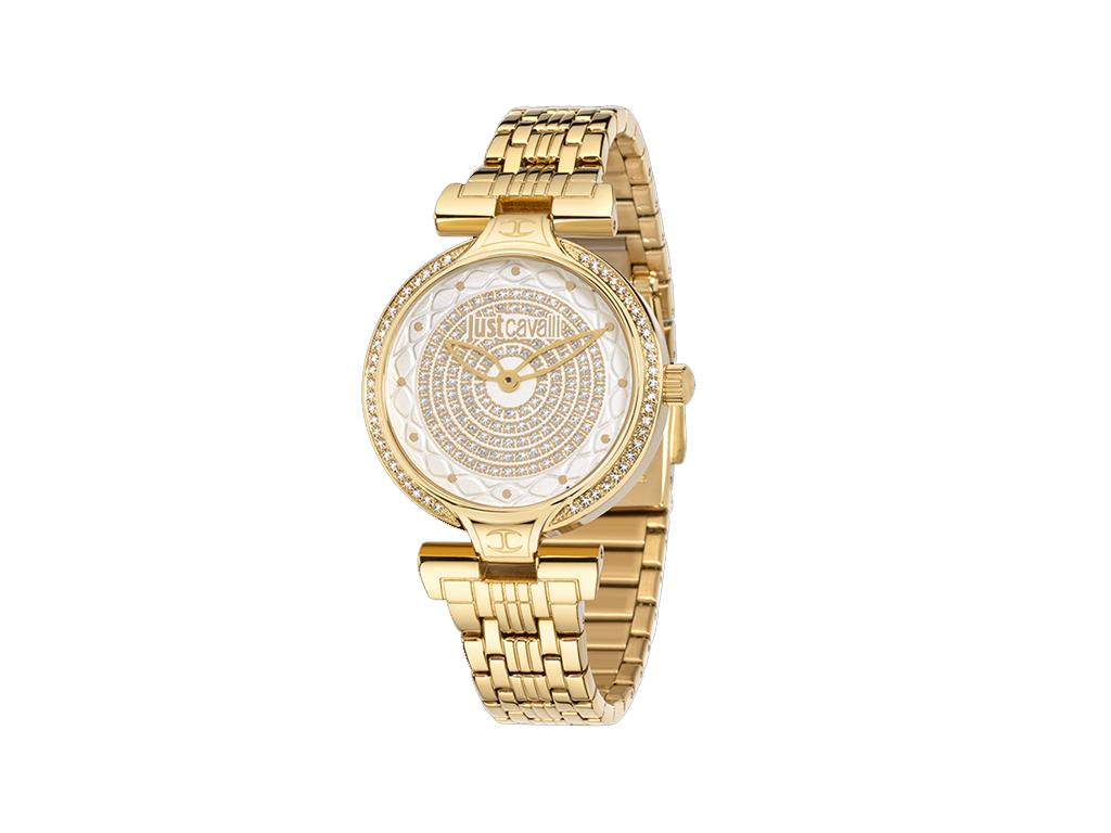 Just Cavalli R7253579501 Γυναικείο Ρολόι Lady J Yellow Gold Steel Bracelet - Jus γυναίκα   ρολόγια