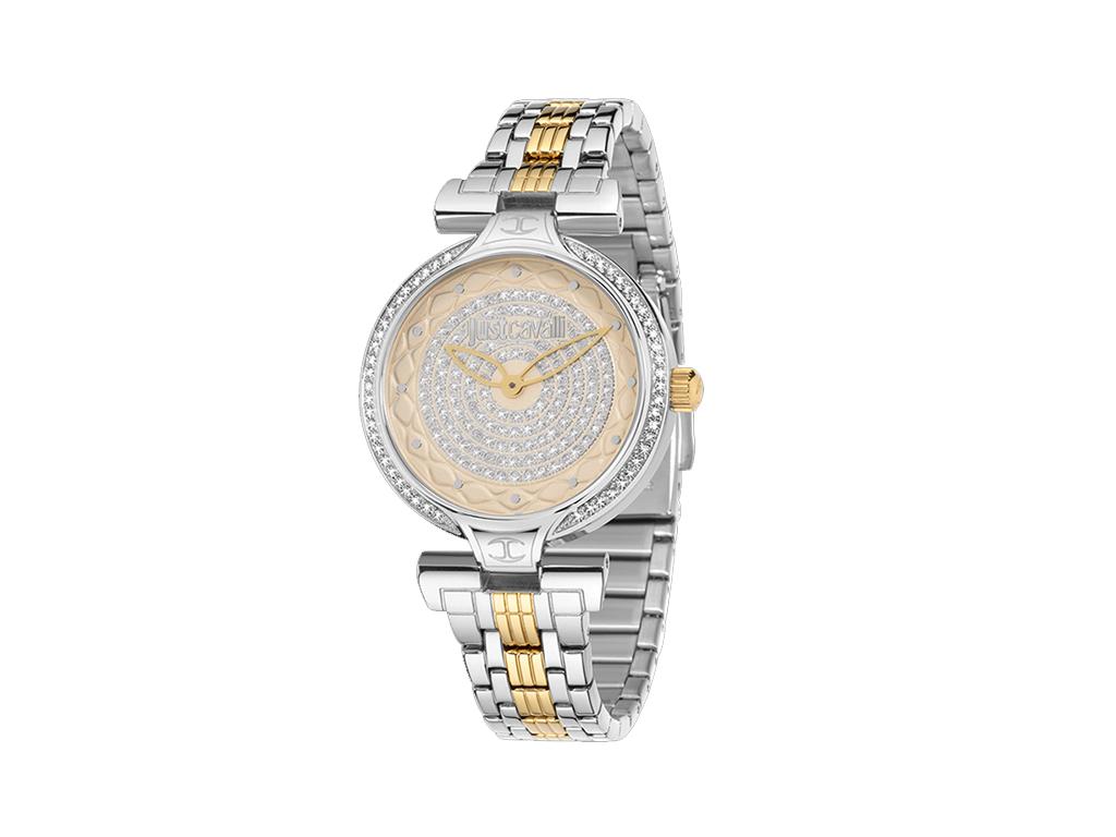 Just Cavalli R7253579503 Γυναικείο Ρολόι Lady J Silver/Gold Steel Bracelet - Jus γυναίκα   ρολόγια