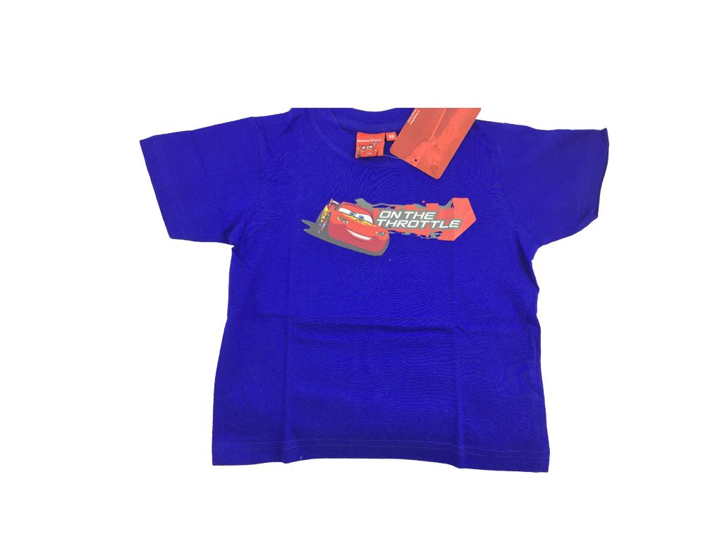 a481d0552c96 Disney 32127 Παιδικό Αγορίστικο Κοντομάνικο Μπλουζάκι Cars με Λαιμόκοψη σε  Μπλε