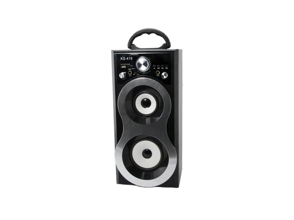 Φορητό Επαναφορτιζόμενο Ασύρματο Ηχείο USB/SD/MIC/AUX με Ράδιο FM/AM σε Μαύρο/Ασ ήχος   bluetooth και μικρά ηχεία